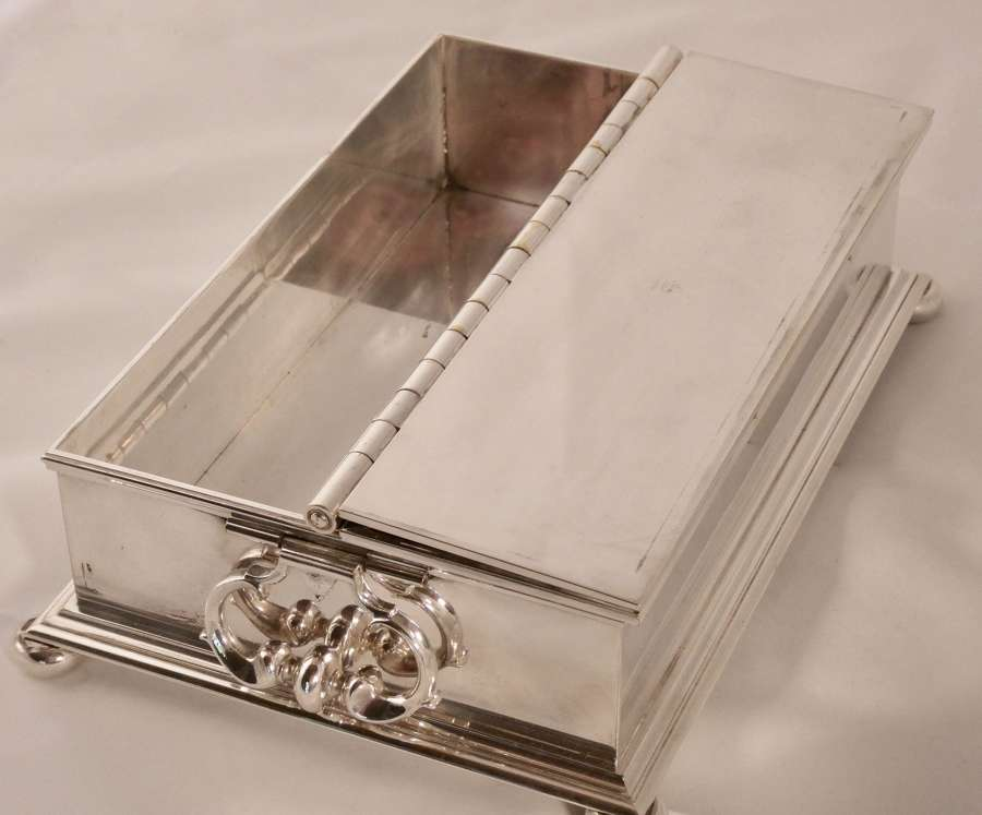 Silver plated treasury desk stand