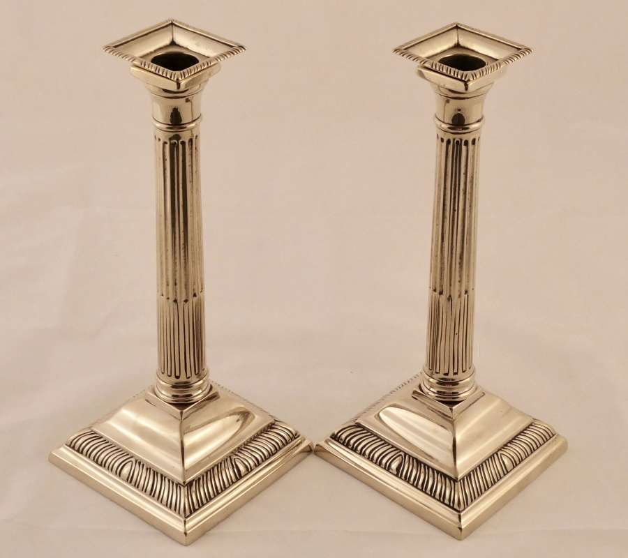 Pair of 18th century paktong candlesticks