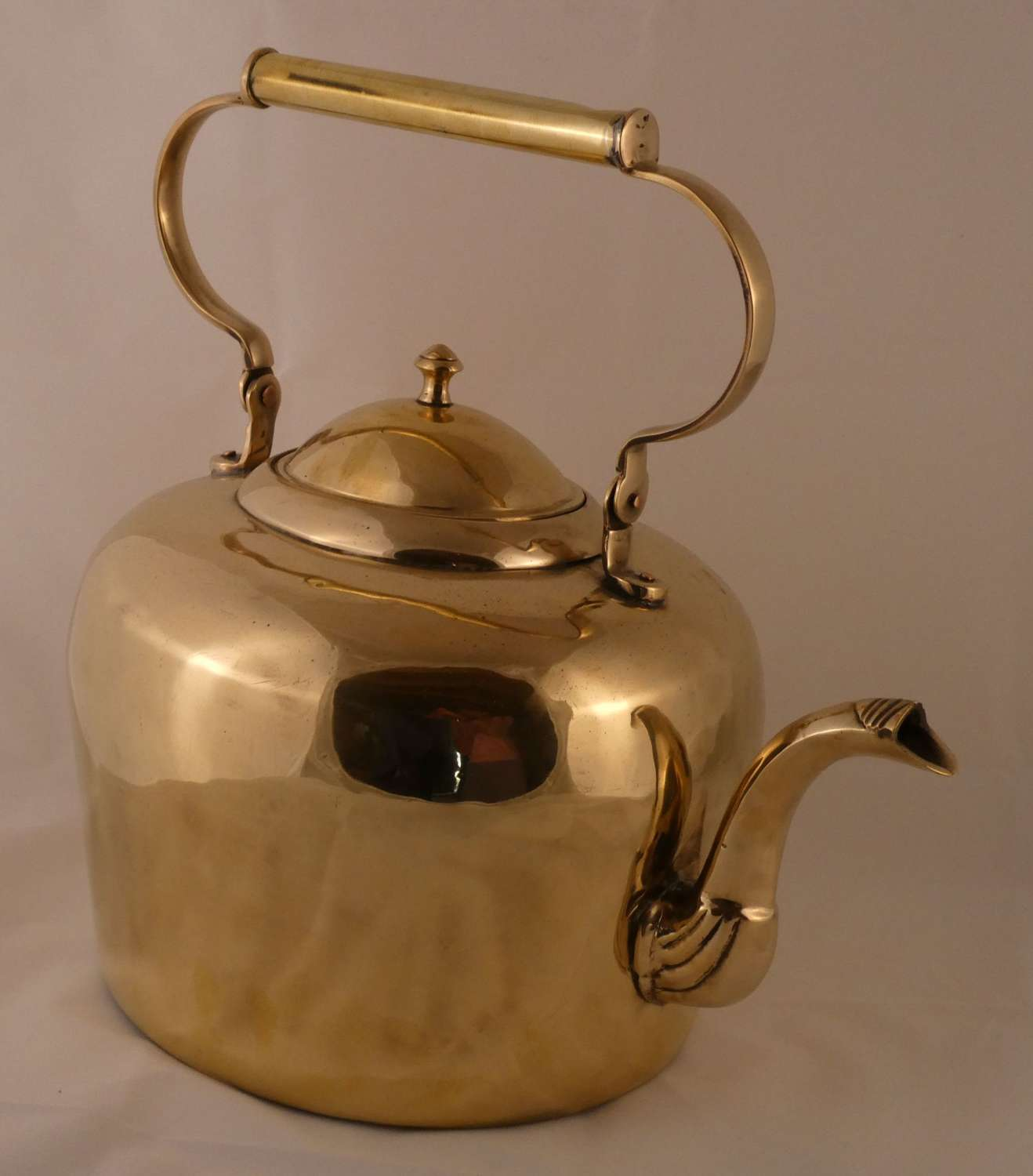 Large brass kettle
