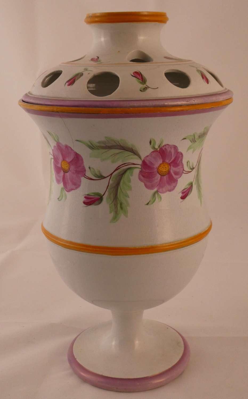 Pearlware Lidded Vase
