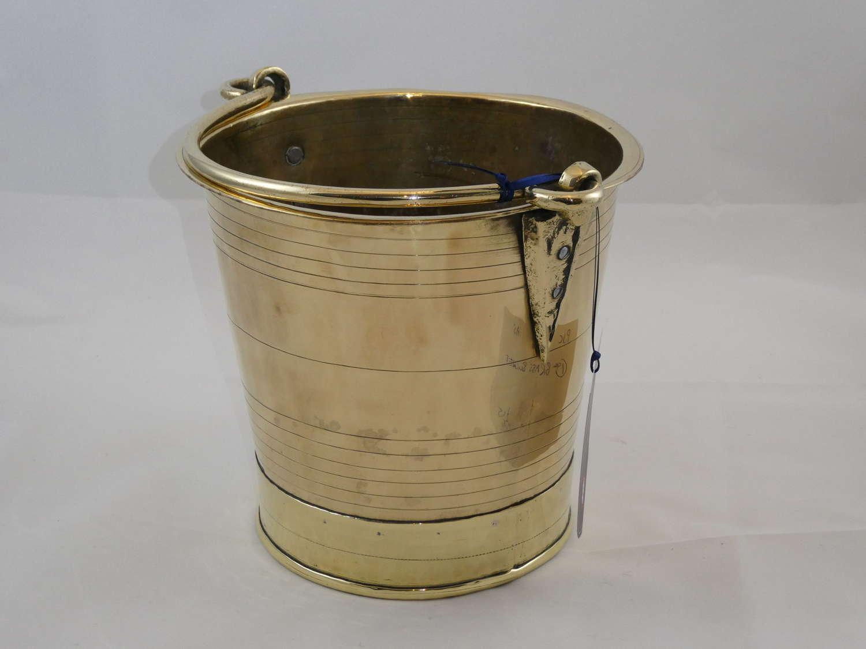 19th Century Brass Bucket