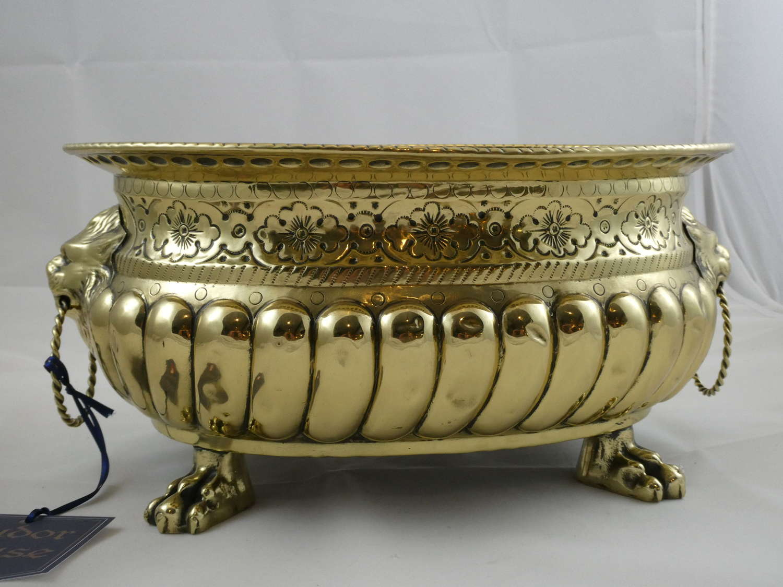 19th Century Flemish Brass Jardiniere
