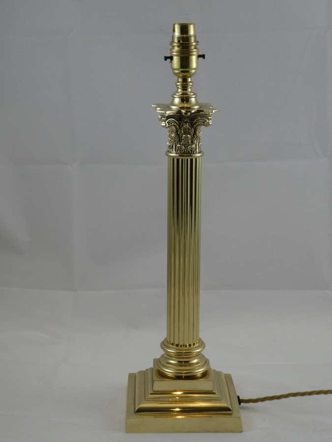 Brass Column Lamp