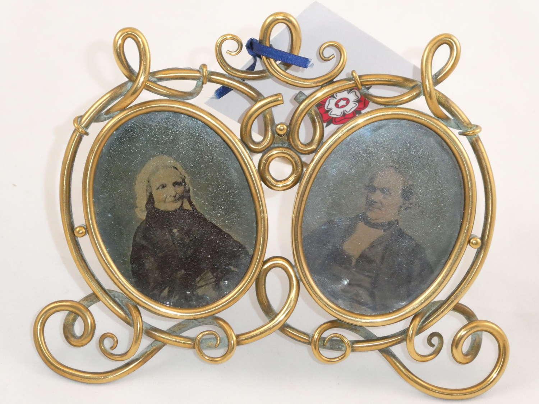 Double Brass Photo Frame