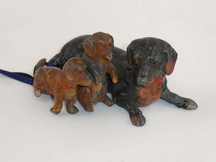 Small Spelter Dachshunds