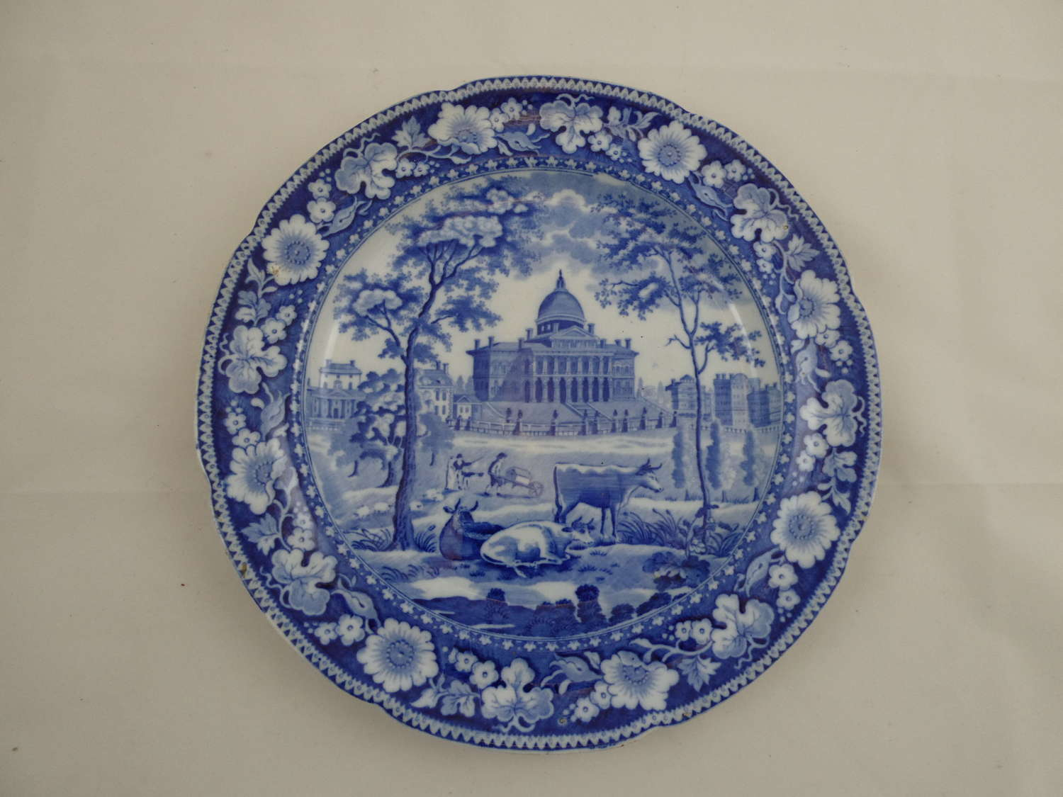 Blue and White Rogers Plate
