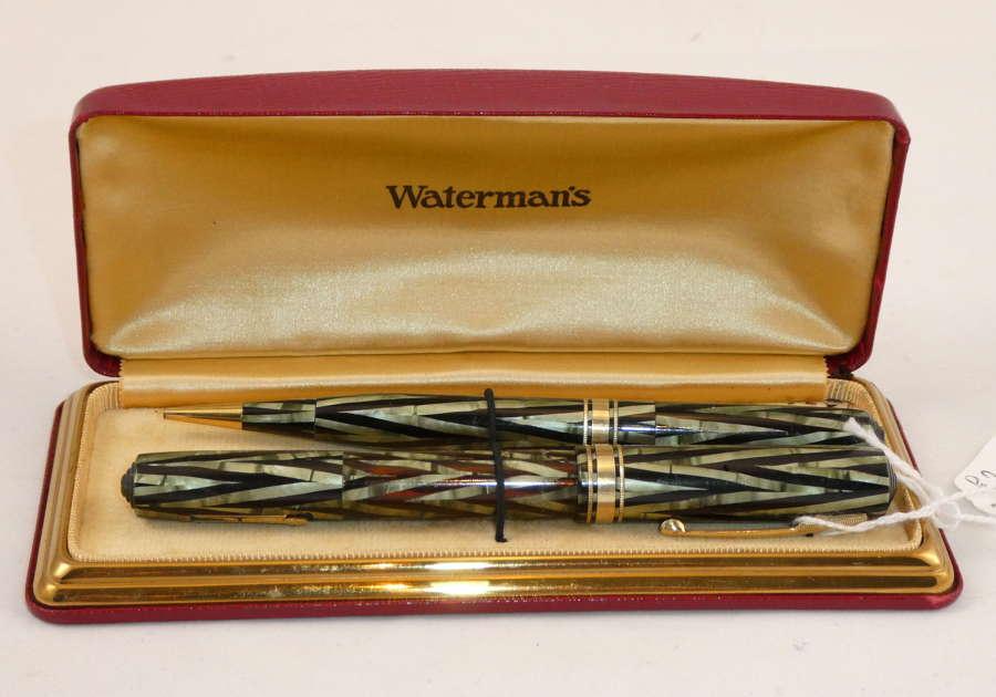 Waterman's Emerald Pen and Pencil Set, 1936