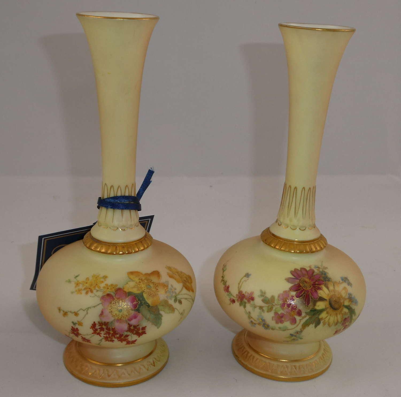 Pair of Worcester Vases