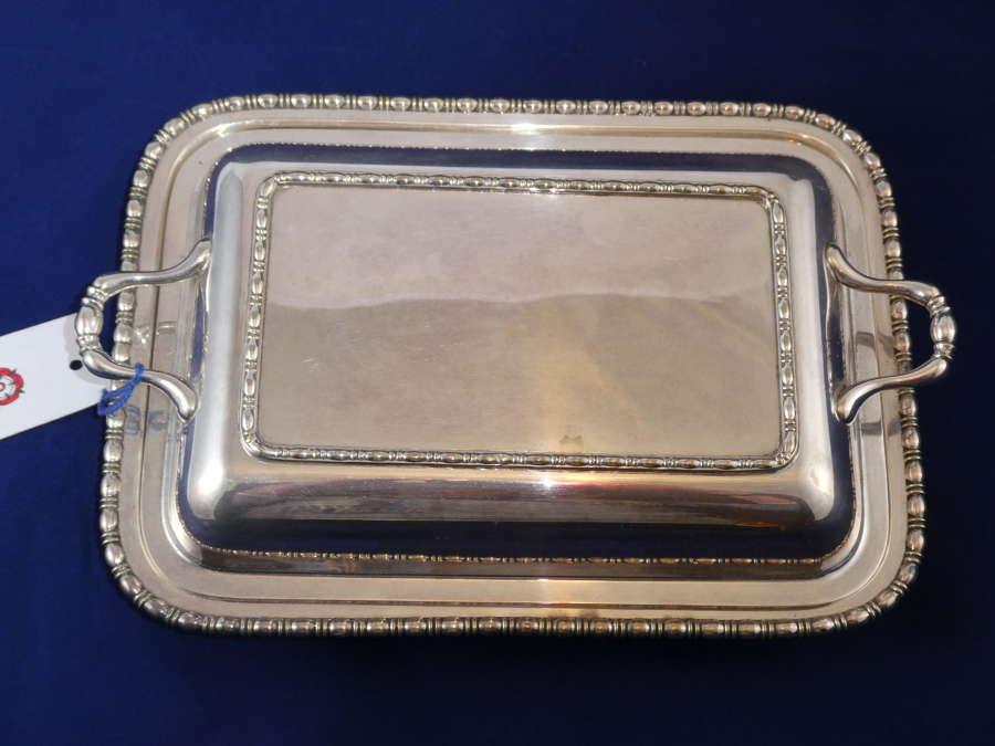Sheffield Plate Entree Dish