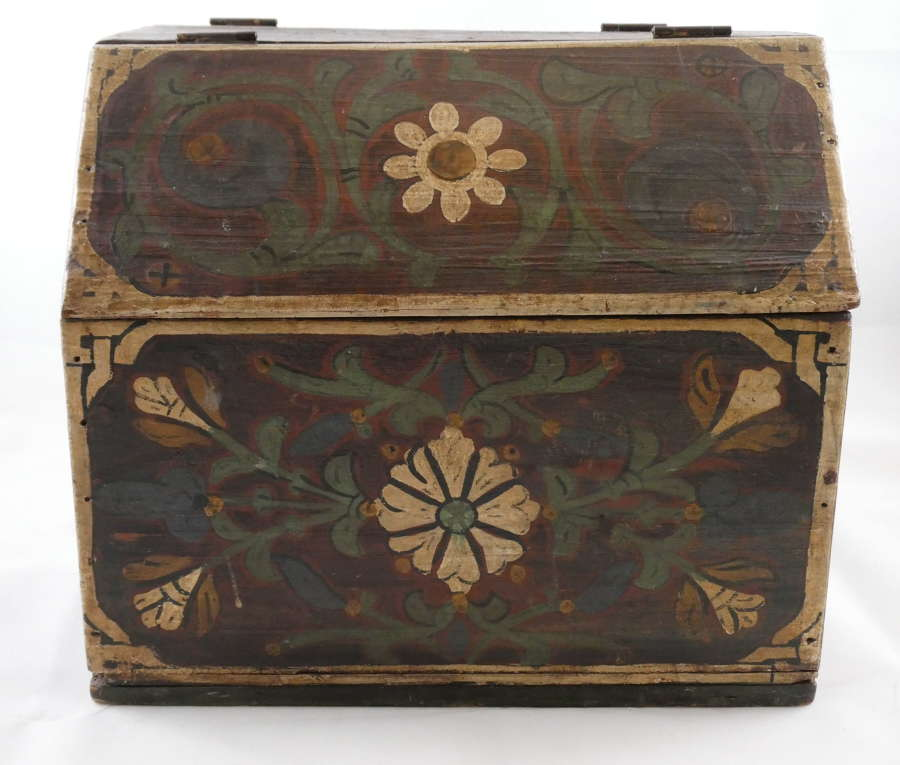 19th Century Painted Work Box