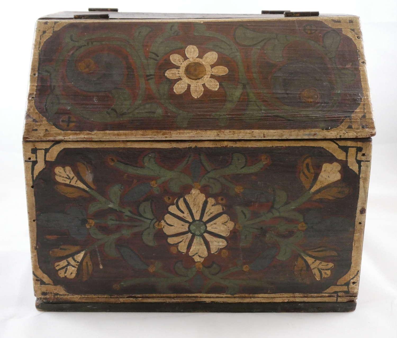 19th Century Painted Work Box
