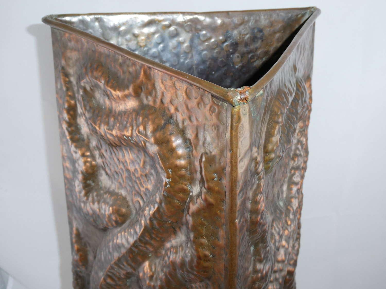 Arts & Crafts Copper Stick Stand