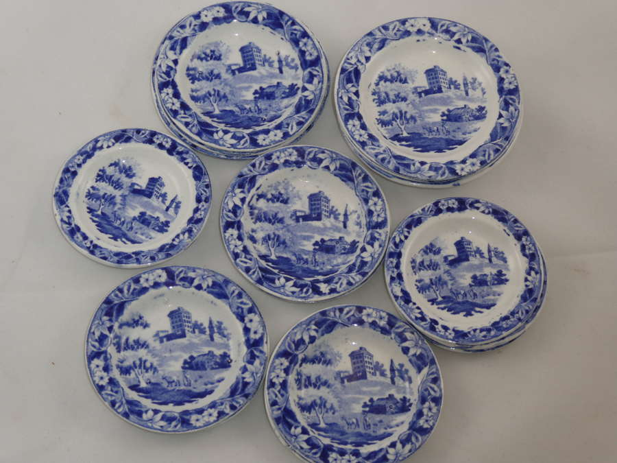 Collection of Hackwood Miniature Plates