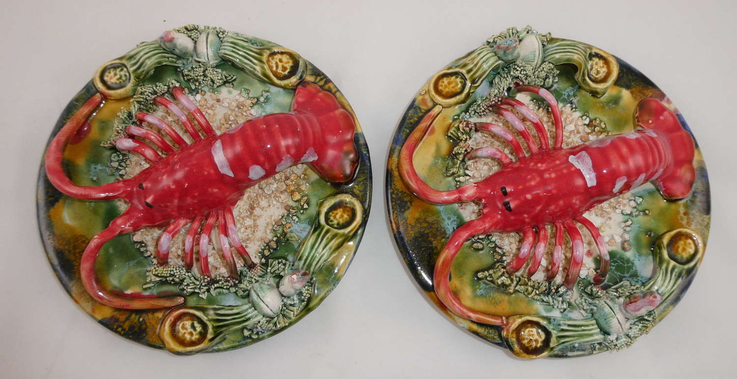 Pair of Palissy Plates