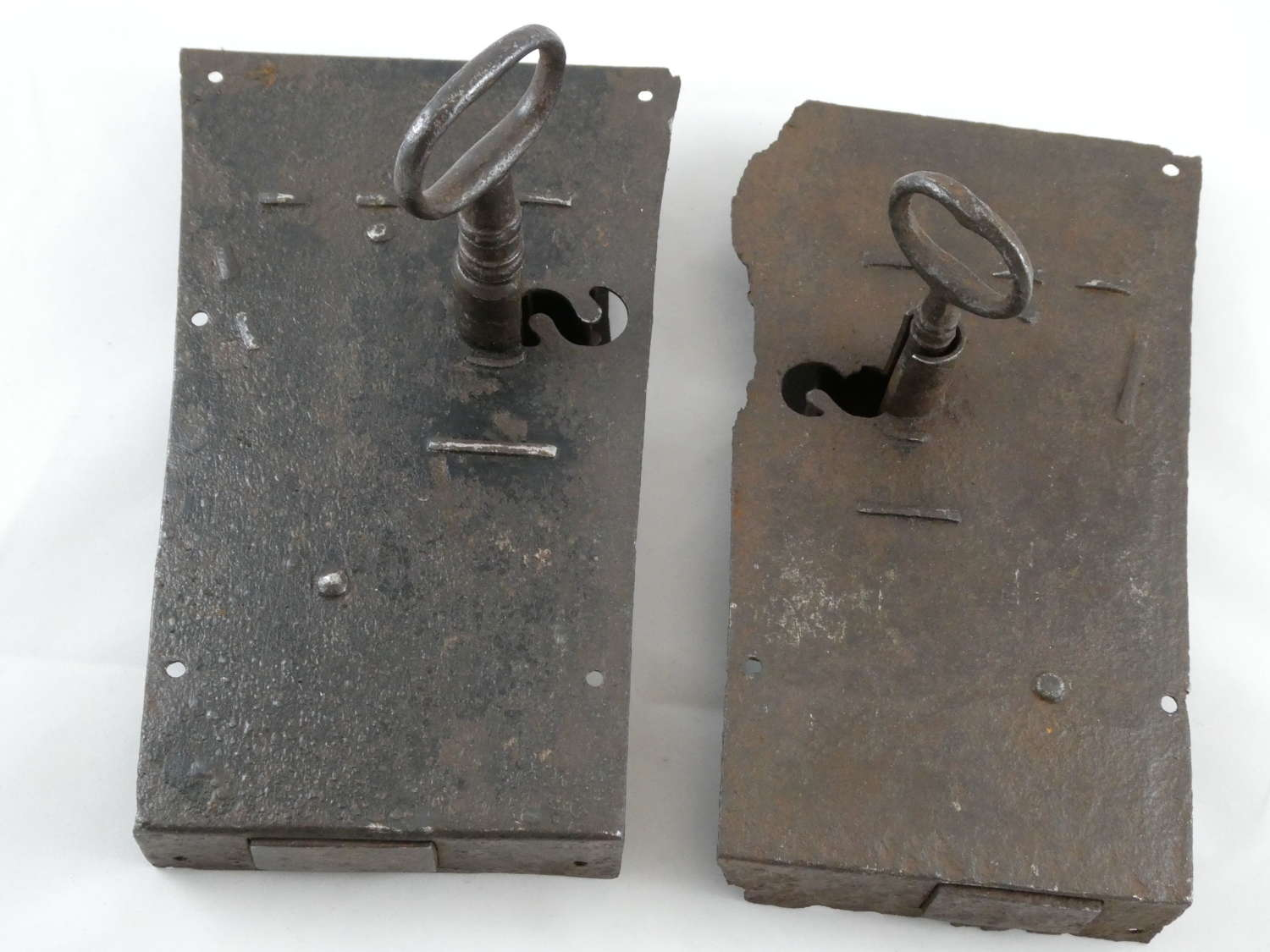 Two Steel Locks with Keys