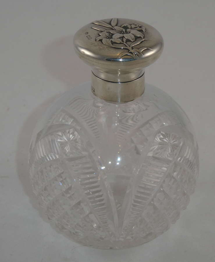 Cut Glass Scent Bottle
