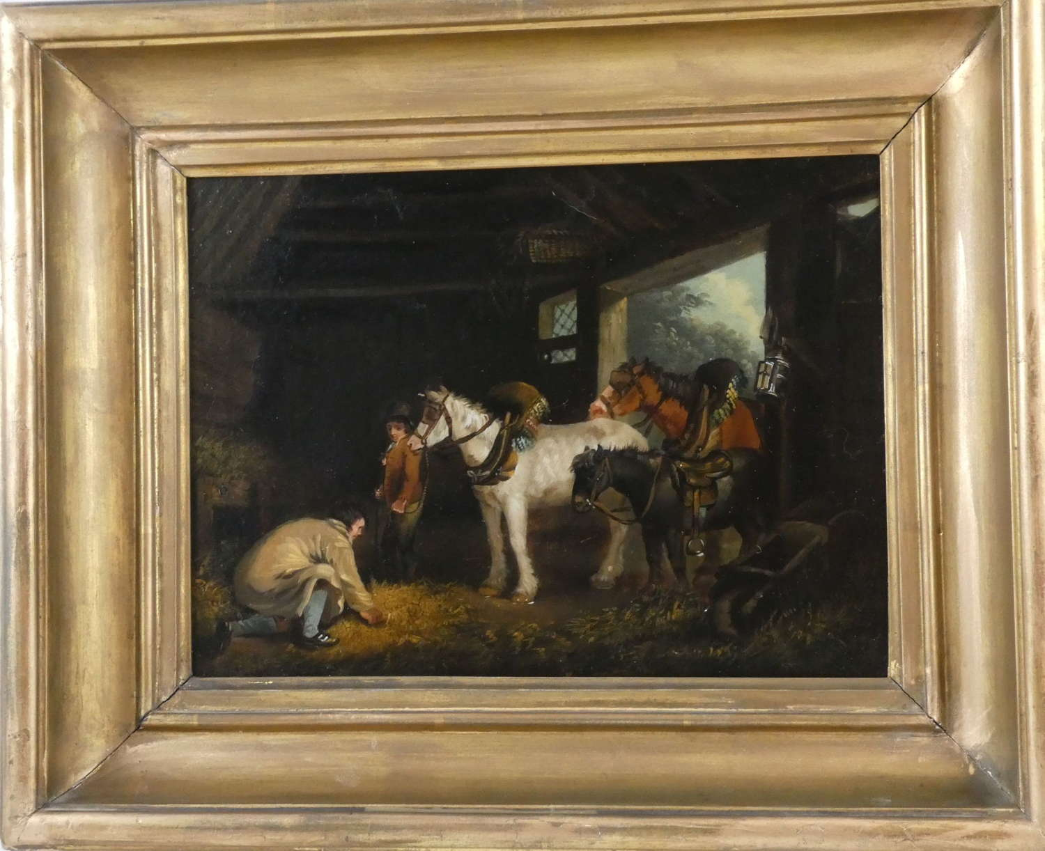 19th Century Oil Painting on Copper