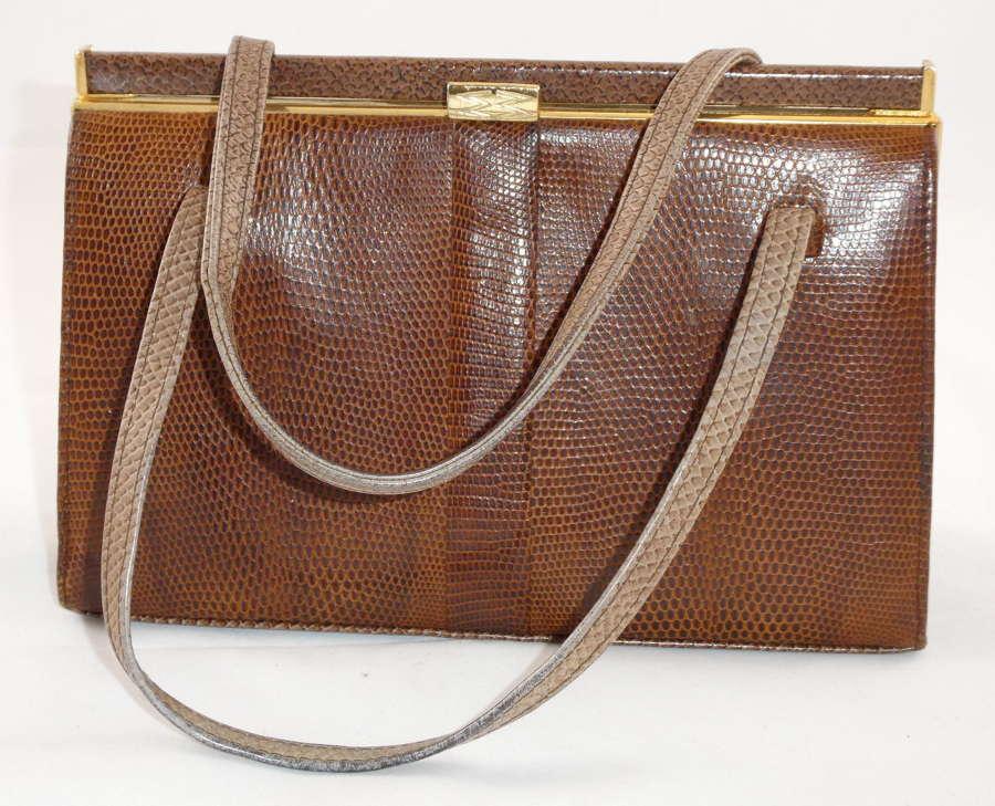 Vintage Lizard Handbag