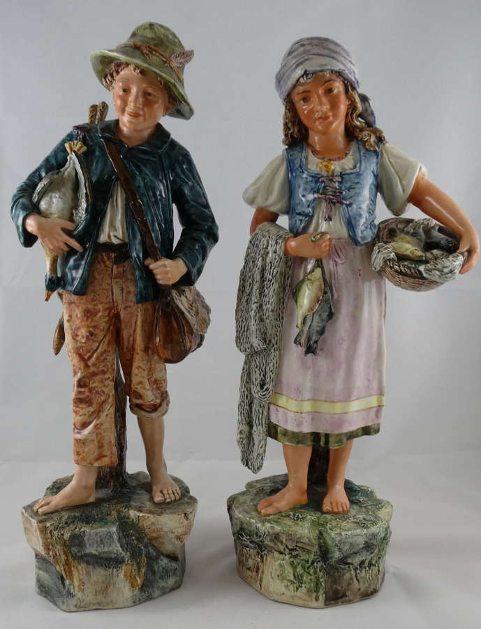 Pair of China Figures