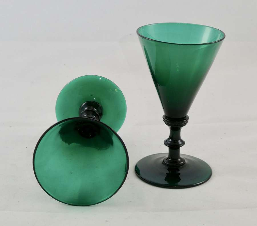 Pair of Bristol Green Glasses