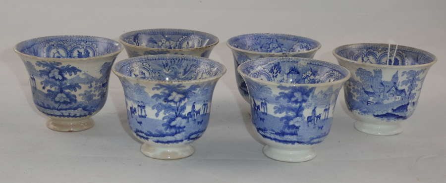 Set of Six Custard Cups