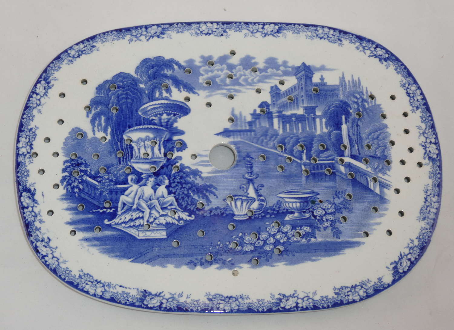Blue and White Drainer