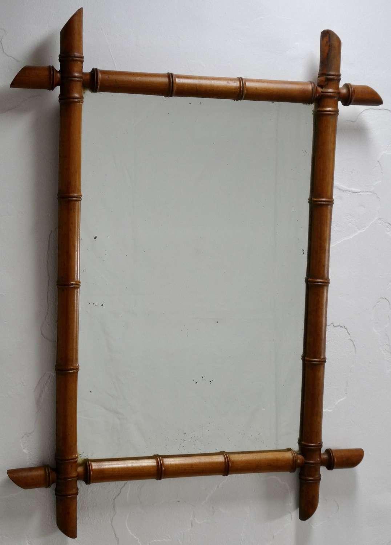 Simulated Bamboo Mirror