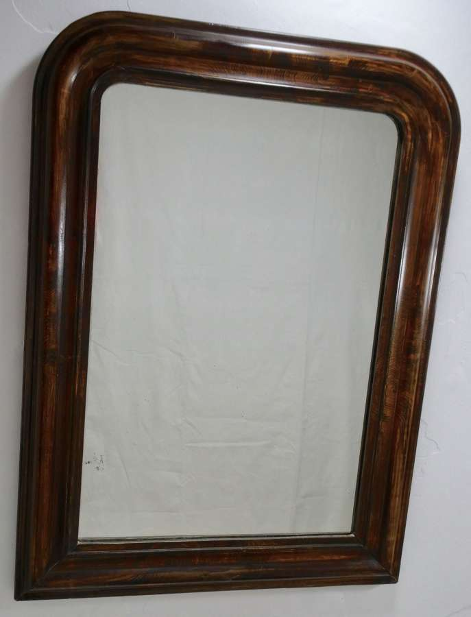 Simulated Wood Mirror