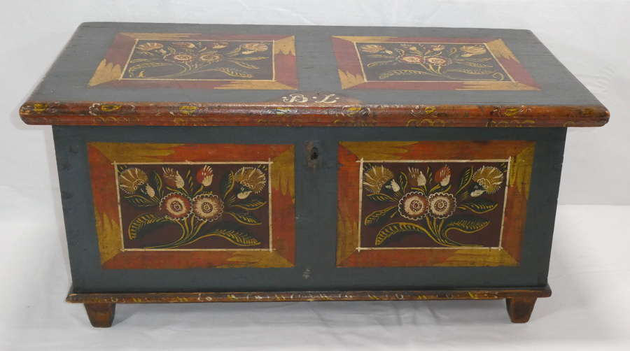 Painted Pine Coffer