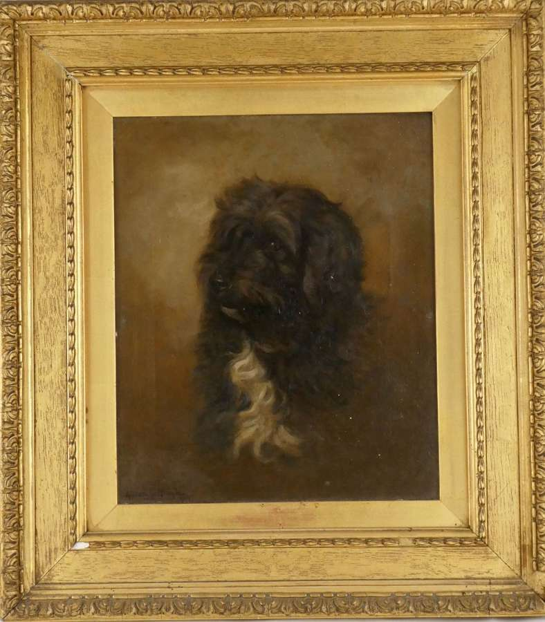 Oil on Canvas Painting of a Dog