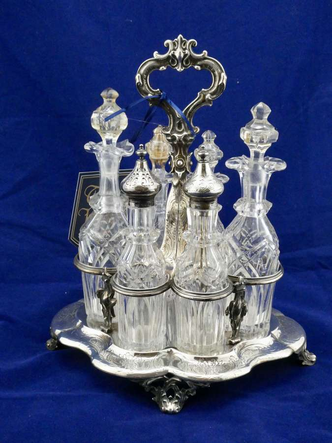 Silver and Glass Cruet Set