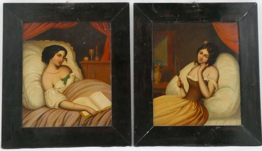 Pair of Paintings on Tin