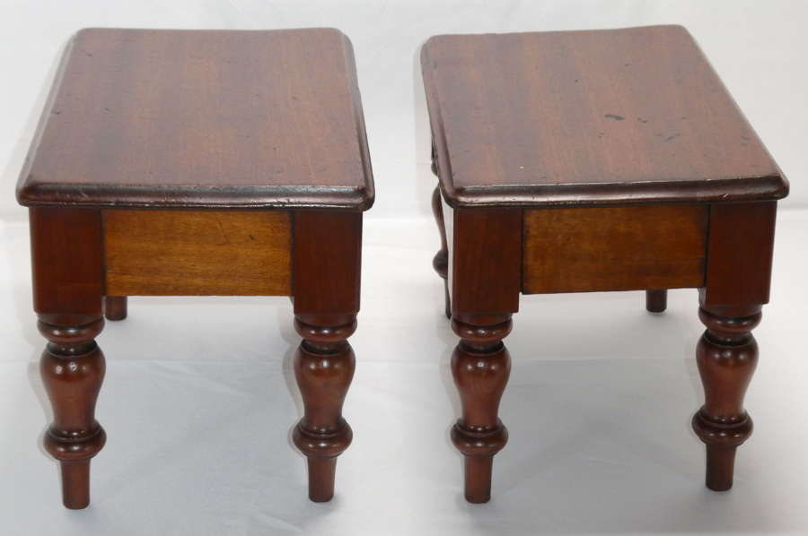 Pair of Mahogany Stools