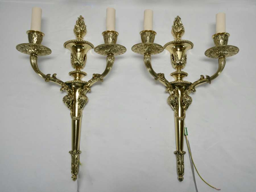 Pair of Brass Wall Lights