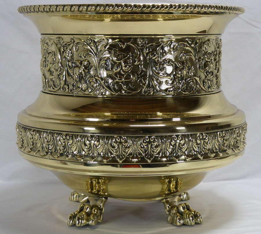 Large Brass Jardiniere
