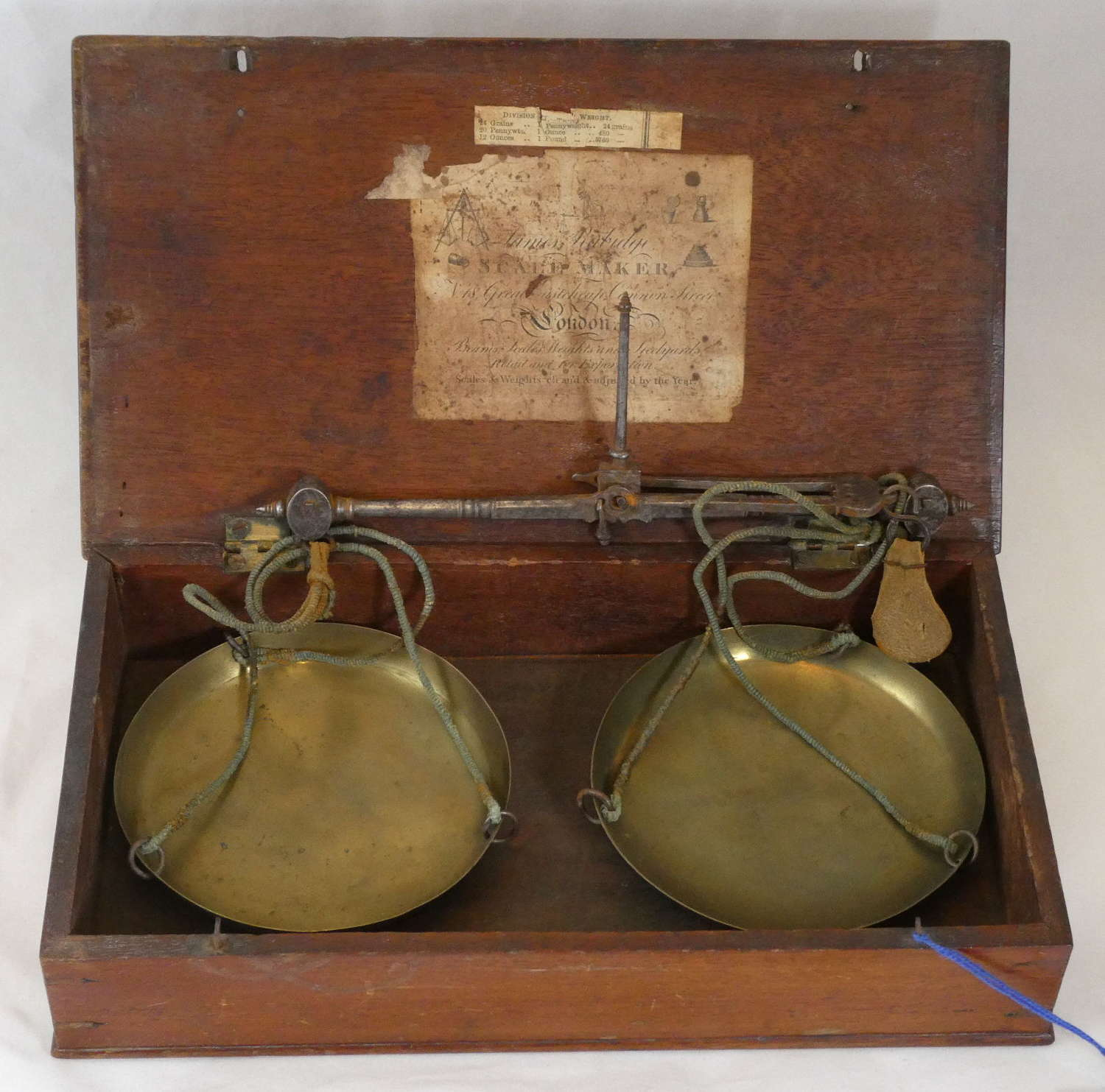 19th Century Brass Scales in Box