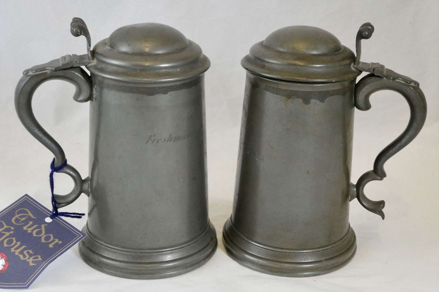 Pair of Pewter Tankards