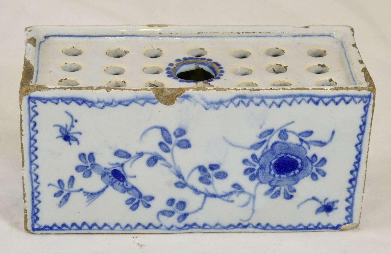 English Delft Flower Brick