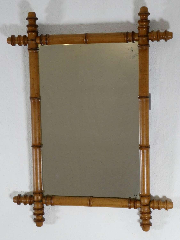 Faux Bamboo Mirror