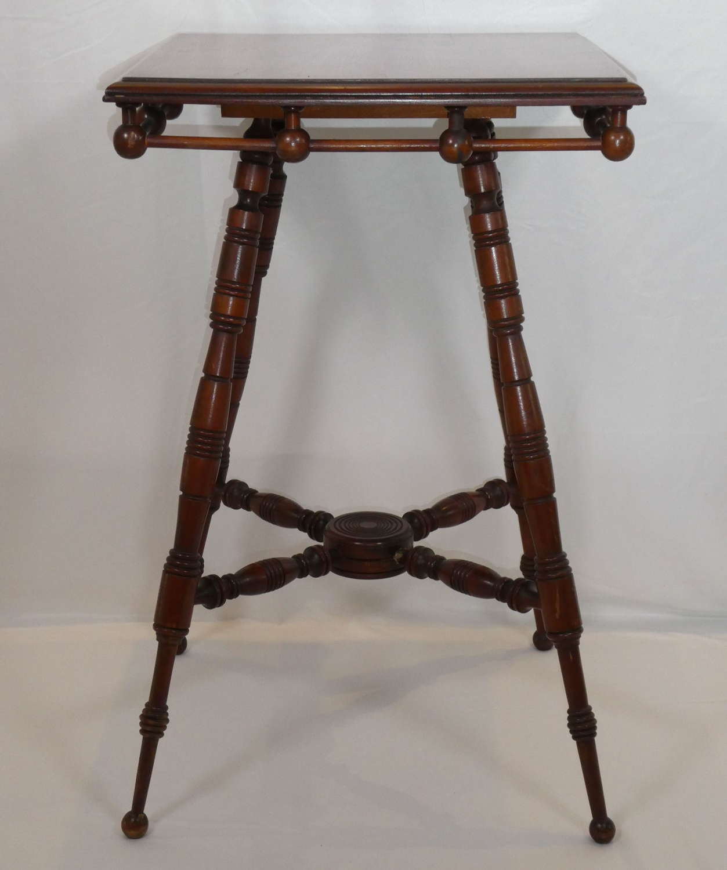 Aesthetic Movement Walnut Table