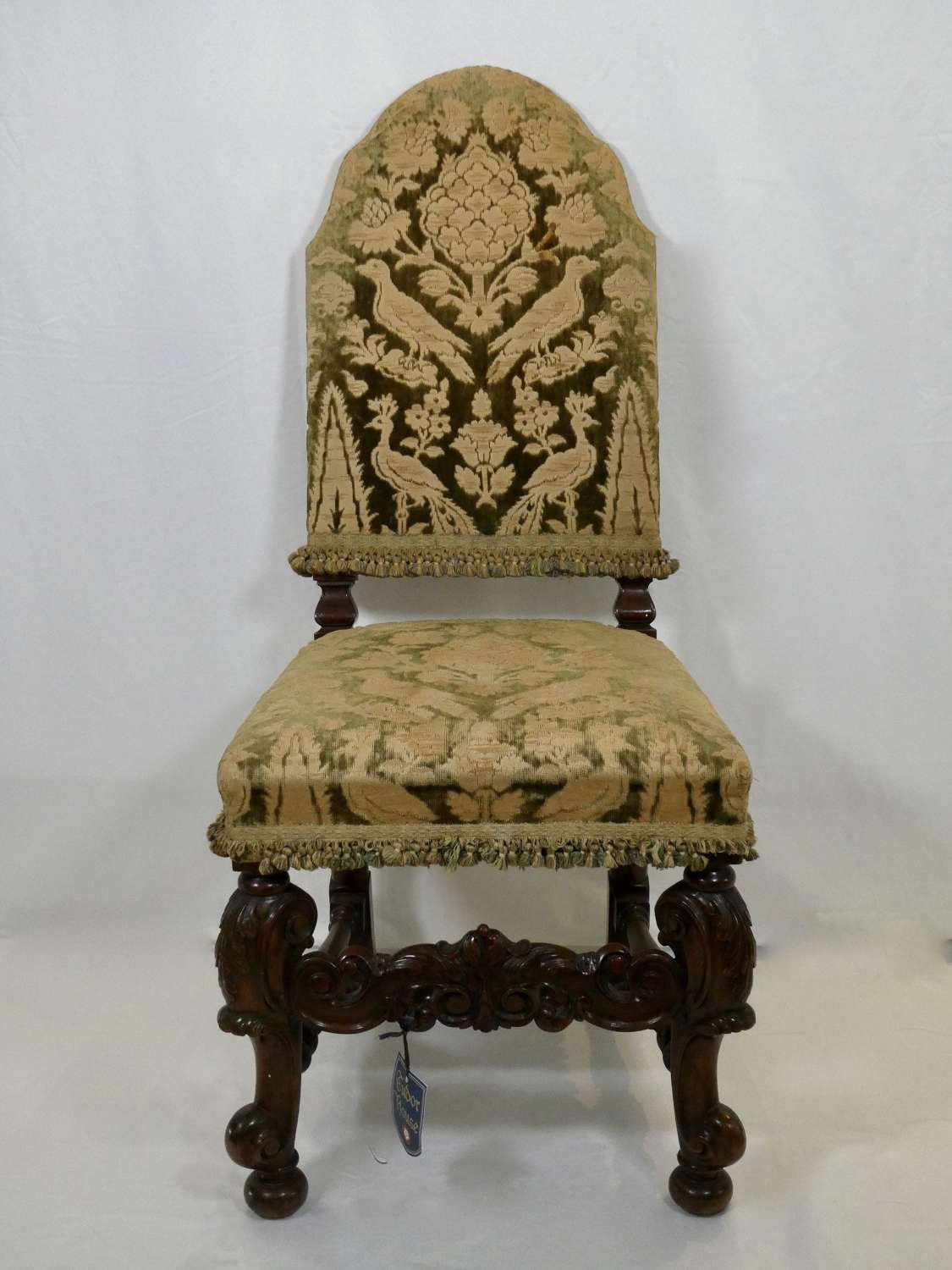 Carolean Style Walnut Chair