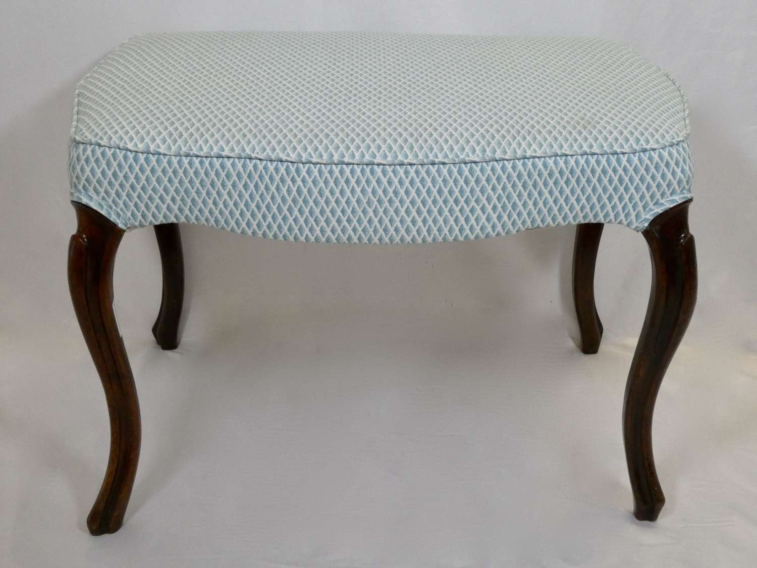 Late 19th Century Upholstered Stool