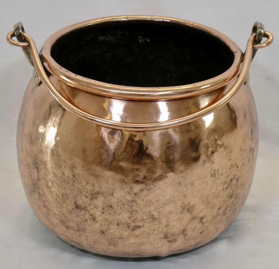 Large Victorian Copper Cauldron