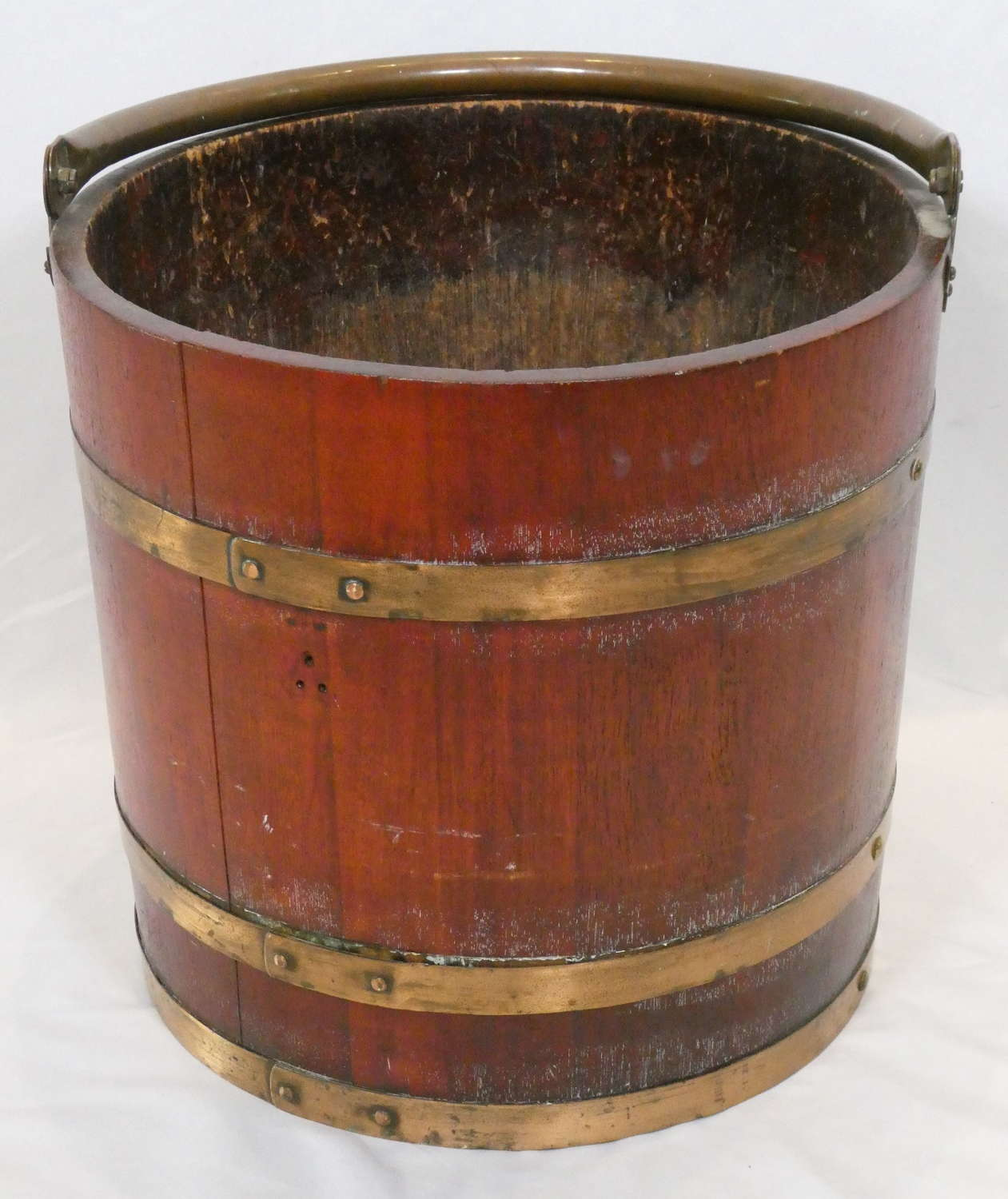 Large Early 20th Century Wooden Bucket or Log Bin