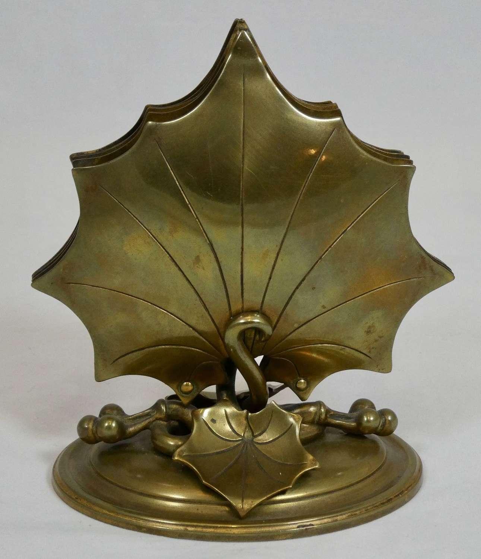 Victorian Brass Letter Rack