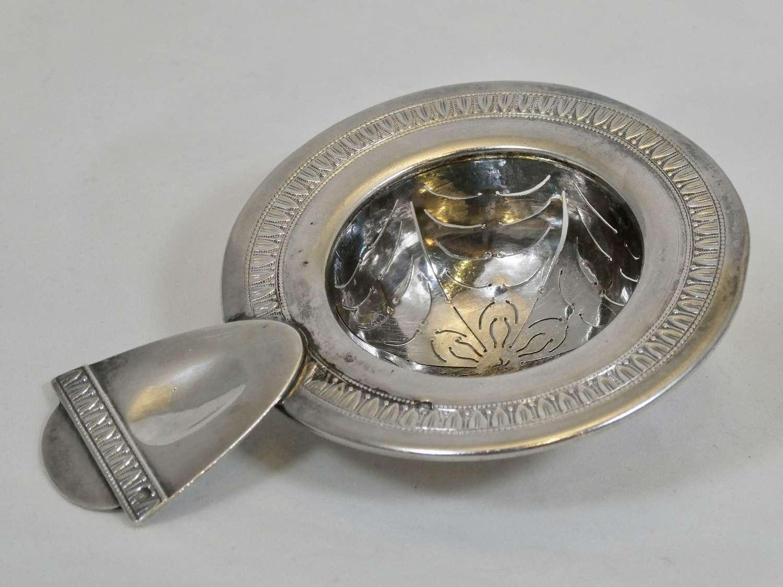 French Silver Tea Strainer, circa 1900