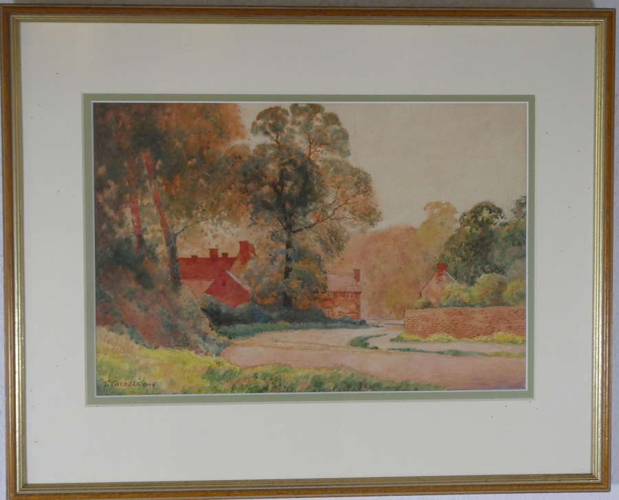 Watercolour by T Trebble, 1924