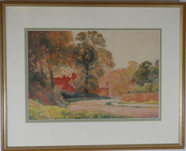 Watercolour by T Trebble, 1924
