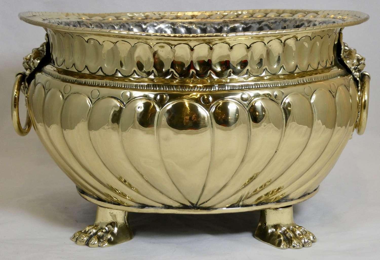 19th century Flemish Brass Jardinière