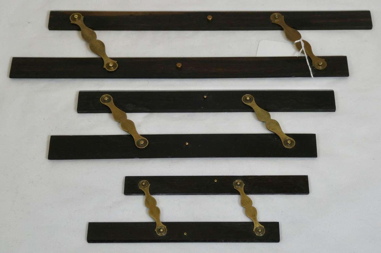 Set of 3 Ebony Maritime Parallel Rules